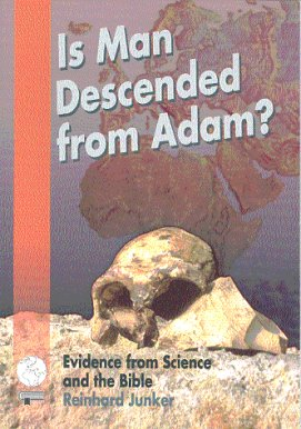 Book cover: Is man descended from Adam?
